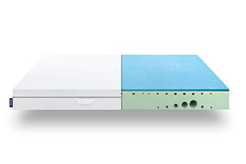 EMMA One Matratze - 80x200 cm, Liegegefühl Hart - 7 Zonen Matratze Visco-Schaum - atmungsaktiv - 100 Nächte Probeschlafen - Öko-Tex Zertifiziert - Entwickelt in Deutschland