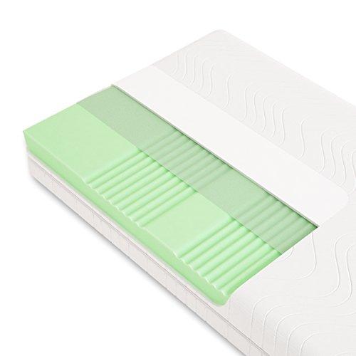 Schlummerparadies® hochwertige Matratze 7-Zonen HR-Kaltschaummatratze - Made in Germany - ca. 19cm Gesamthöhe, RG40, geprüfter Kern + Bezug - Optima Klassik (140x200cm, H3)