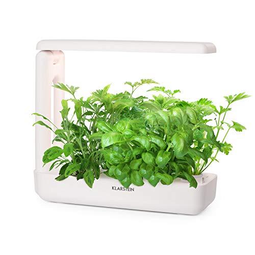 Klarstein GrowIt Cuisine - Smart Indoor Garden Anzuchtsystem, Hydroponik, bis zu 12 Pflanzen in 25-40 Tagen, automatisches LED-Beleuchtungs- und Bewässerungssystem, 2 L Wassertank, Grow It Smart!