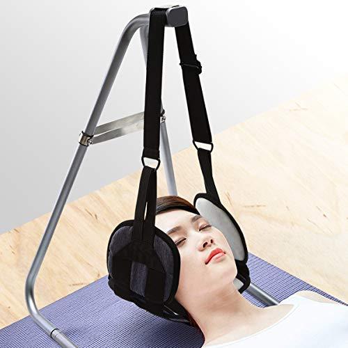 Nacken Hängematte Tragbare Hängematte für Hals Kopf Schmerzlinderung Entspannung Zervikal Traktion Massagegerät mit Faltbar Gestell Head Hammock for Pain Relief