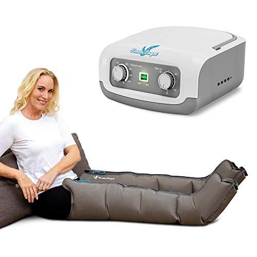 Venen Engel ® 4 Gleitwellen Massage-Gerät mit Beinmanschetten, 4 Luftkammern, Druck & Zeit unkompliziert einstellbar