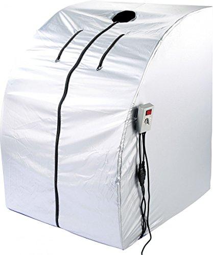newgen medicals Infrarotsauna: Portable Infrarot-Sauna V2 mit 2 Heizern, 1600 Watt (Infrarotkabine)