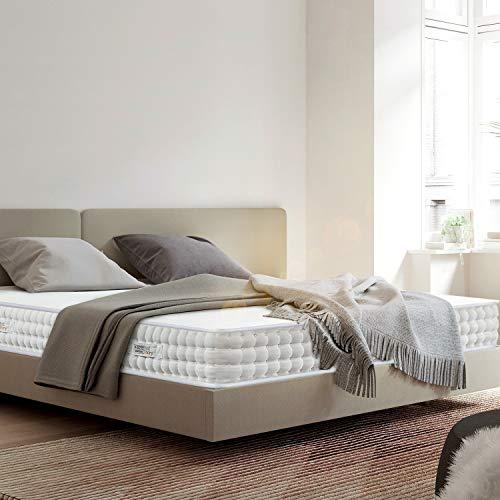 BedStory Matratze - 18cm Wellness Kaltschaummatratze Medium-7 Zonen Matratze 140 x 200 cm- Härtegrad H2 & H3-100 Nächte Probeschlafen-weiß