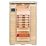 Home Deluxe – Infrarotkabine – Redsun M – Vollspektrumstrahler – Holz: Hemlocktanne - Maße: 120 x 105 x 190 cm – inkl. vielen Extras und komplettem Zubehör