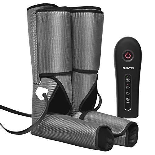COSTWAY Beinmassagegerät Fußmassagegerät Luftdruckmassage, Massagegerät für Beine und Füße, Fuß-Waden-Massagegerät 3 Modi und 3 Intensitäten, Venenmassagegerät Muskelentspannung