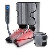 JIM'S STORE Elektrisches Beine Massagegerät Fußmassagegerät Luftdruckmassage mit Heizfunktion LCD-Bildschirm verlängerter Klettverschluss Tasche für Zuhause Entspannen Dekompression 6 Modi