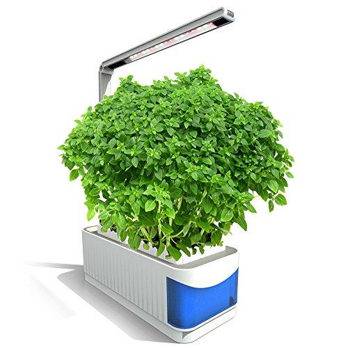 Smart Garden,Intelligente Hydroponik-Gartenbeleuchtung,Indoor Garten Kit Indoor Garden Kräutergarten-Pflanzgefäß-Ausrüstungs-Wasserkultur-wachsendes System mit Schreibtischlampenfunktion