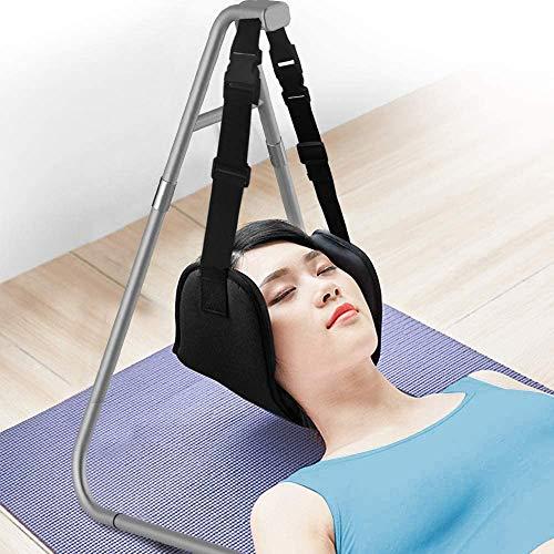 Hals Hängematte Schmerzlinderung Kopf Nacken Massagegerät Entspannung Neck Hammock Tragbar Schulter Relaxer mit Befestigungsgestell für Männer Frauen