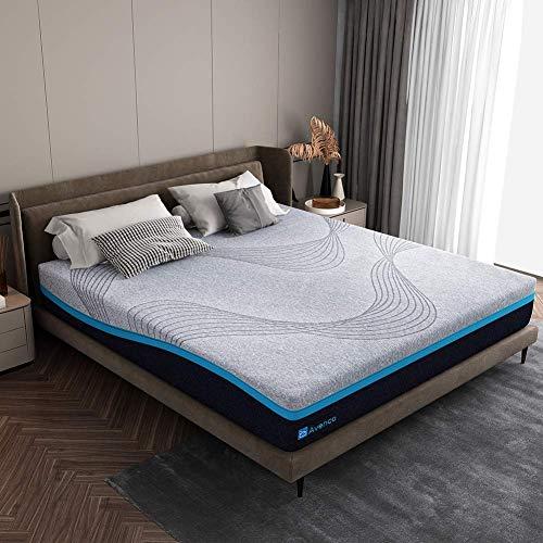 Avenco Matratze 180x200, H3 Harte Matratze, Hochwertige Kaltschaummatratze mit waschbarem Bezug, Höhe 18 cm, grau