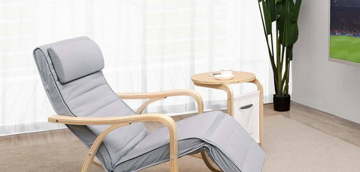 Entspanntes Schaukeln mit dem grauen SONGMICS Relaxstuhl!