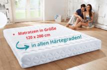 Matratze in Größe 120 x 200 cm für alle Härtegrade online kaufen
