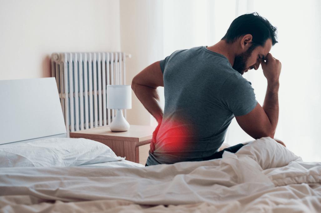 Rückenschmerzen und Verspannungen durch falschen Matratzen-Härtegrad