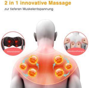 ATMOKO Nackenmassagegerät zum Umhängen mit Wärme