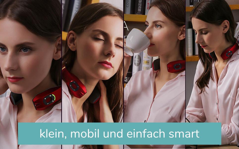 kleine smarte und mobile nackenmassagegeräte