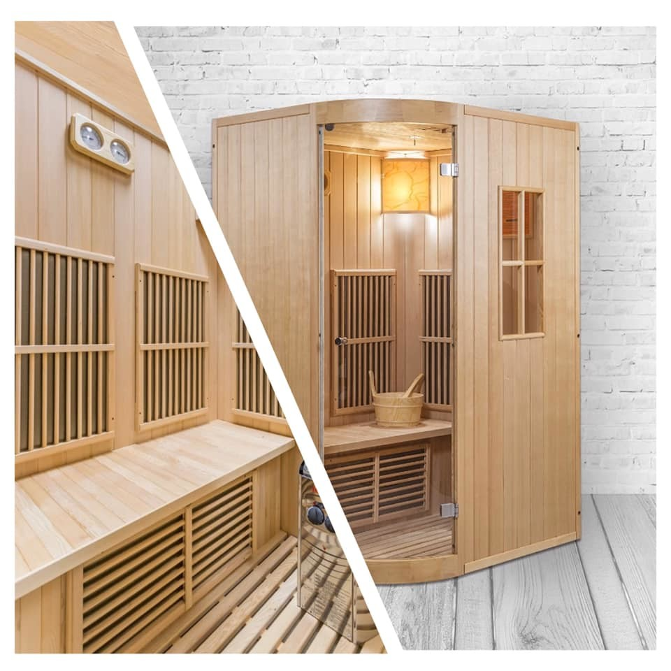 Perfekt für Zuhause - Kombination aus Sauna und Infrarotkabine