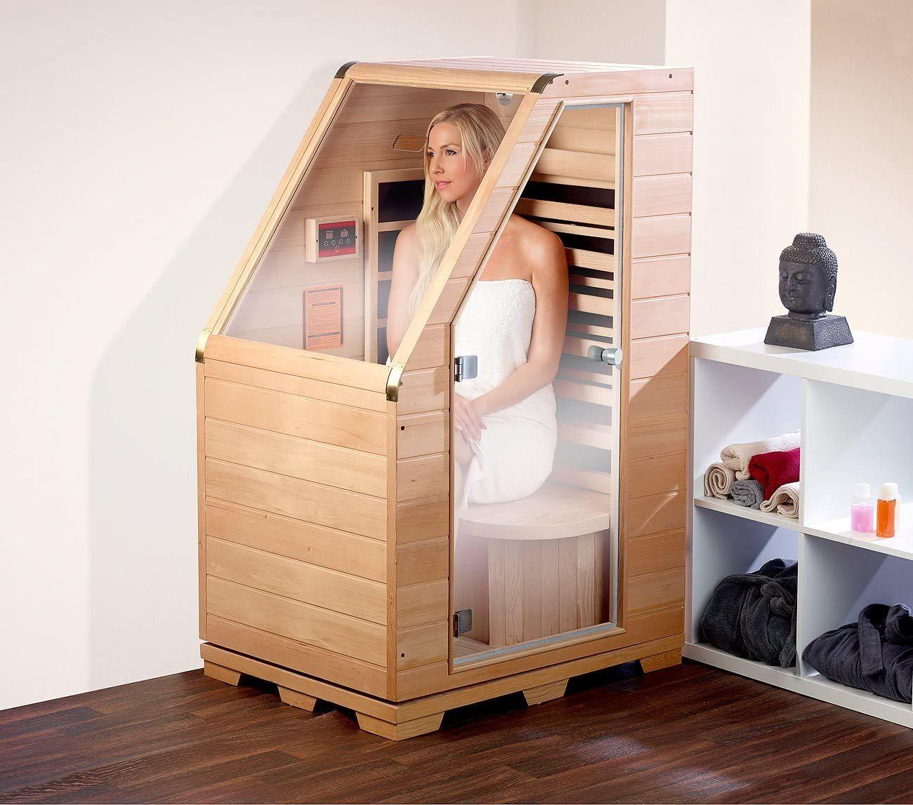 kleine private Sauna mit Infrarot