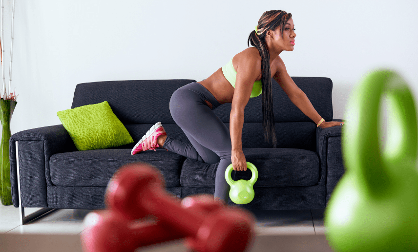 Home-Fitness bei Corona mit Kettle Bell Training